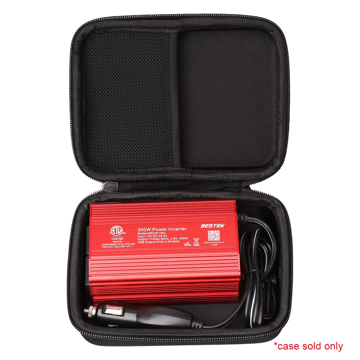 Aproca Hard Protective Travel Csae Bag for BESTEK 300W/Foval 150W Power Inverter Car Inverter