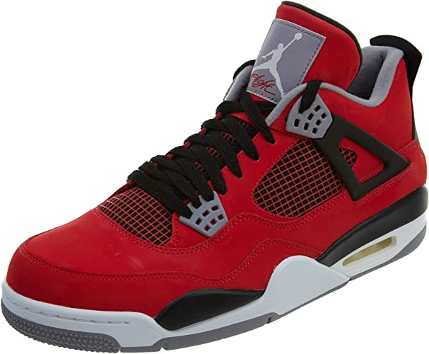 all red jordan retro 4