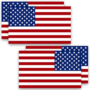 USA Flag Decal Reflective Exterior Window Decal in Various Sizes Free Shipping