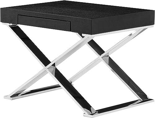 Pangea Home Alexa Side Table, Black