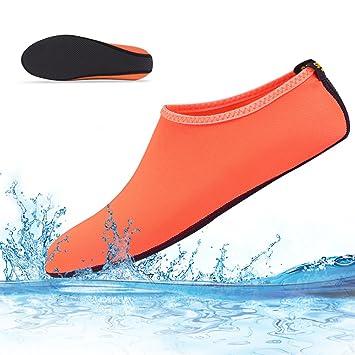 Vandot Hombres Mujeres Zapatos de Agua Descalzo Barefoot Respirable Calcetines de Buceo Natación Zapatos para Playa