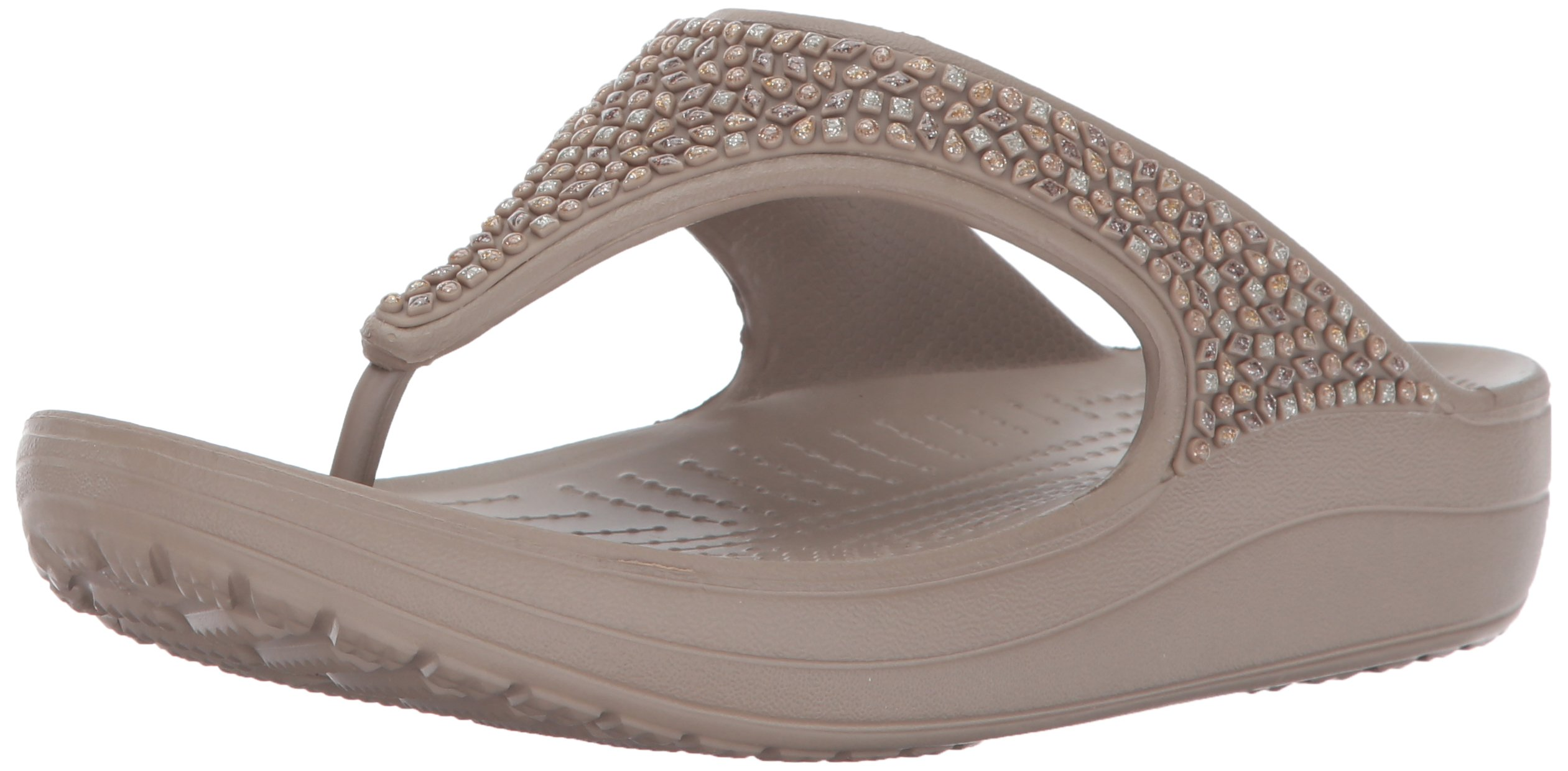 2f4d631a534f Galleon - Crocs Women s Sloane Embellished Flip Flop
