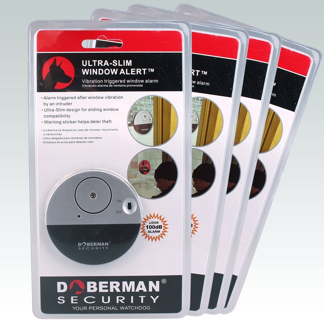 Alarma casa, WER Alarma Hogar de Seguridad de Ventana Dóberman Ultrafino DOBERMAN SECURITY Ultra-Slim Window Alarm