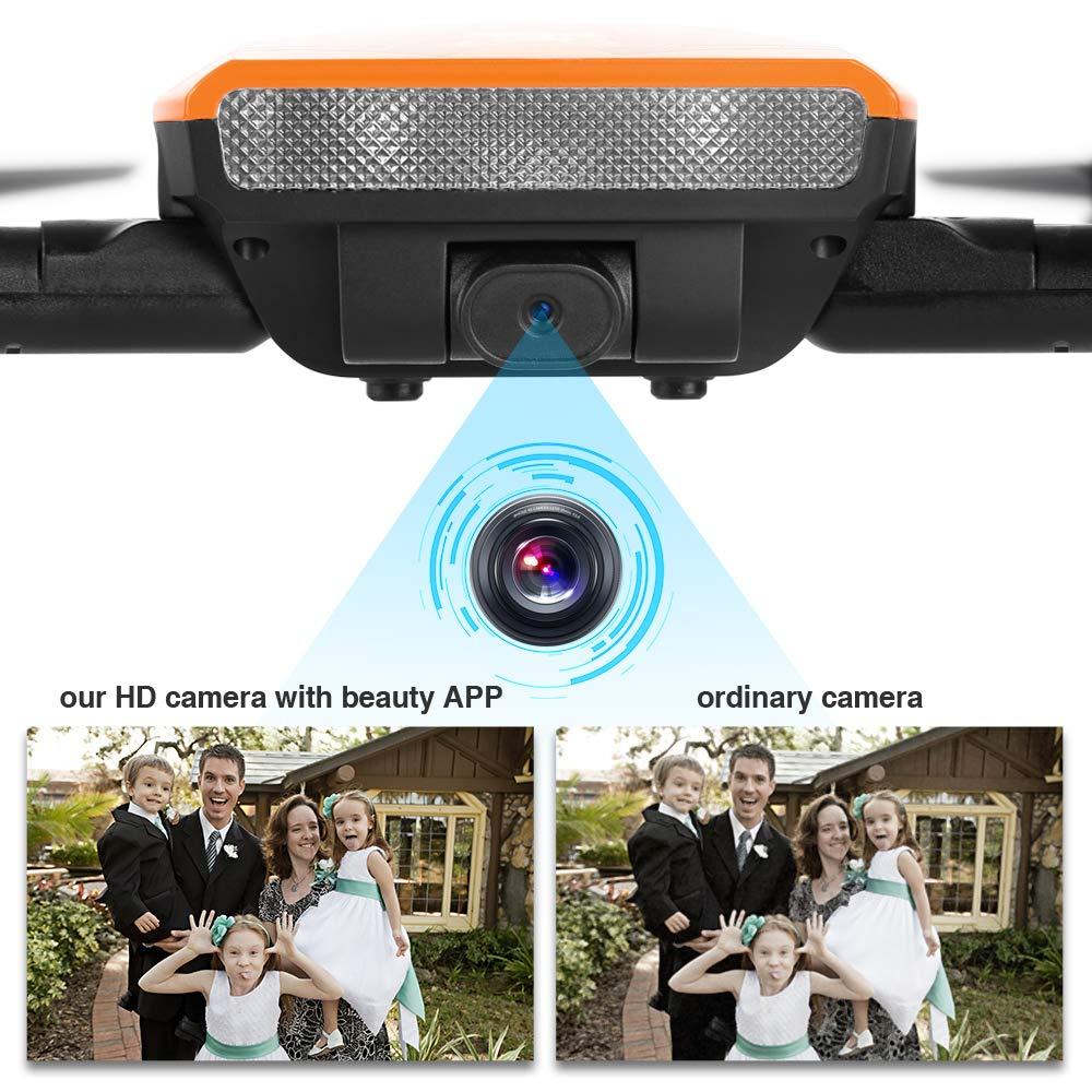 Eine Batterie HELIFAR H818 Drohne Faltbar mit Kamera HD 720P WiFi FPV S Elektrisches Spielzeug