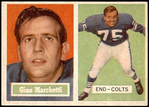 Amazon.com: 1957 Topps # 5 Gino Marchetti Baltimore Colts (Football Card) EX Colts San Francisco ...