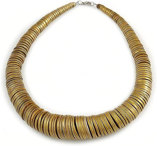 Avalaya Unique Multicoloured Wood Bead Black Cord Necklace 60cm L