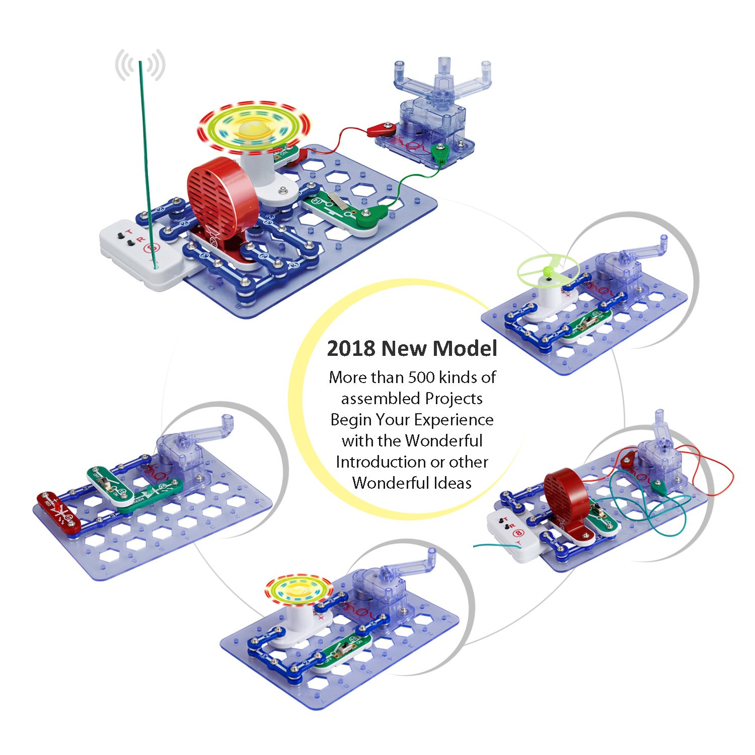 Bable Buckles Circuits Stem Toys Science Experiments Snap Snaptricity Kit Build 75 Projects Kids Electronics Discovery Manual Electrical Generator 500 Games