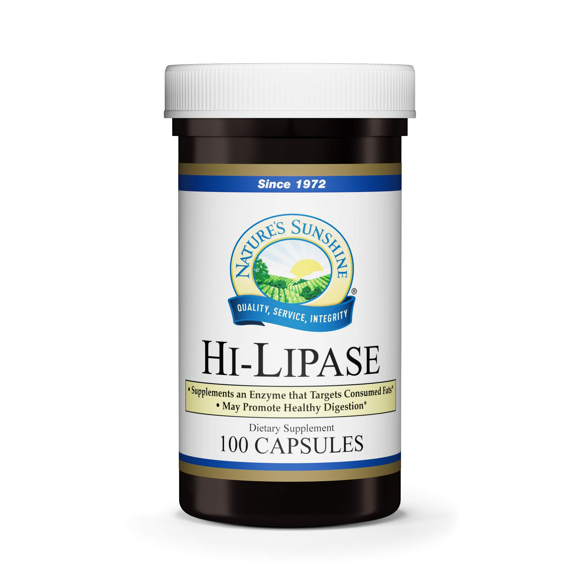 Nature's Sunshine Hi Lipase Dietary Supplement, 100 Capsules   Powerful Enzyme Supplement that Allows the Digestive System to Digest Fats