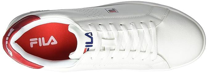 Fila Crosscourt 2 Low, Baskets Homme, Multicolore (White/High Risk Red 00H), 44 EU