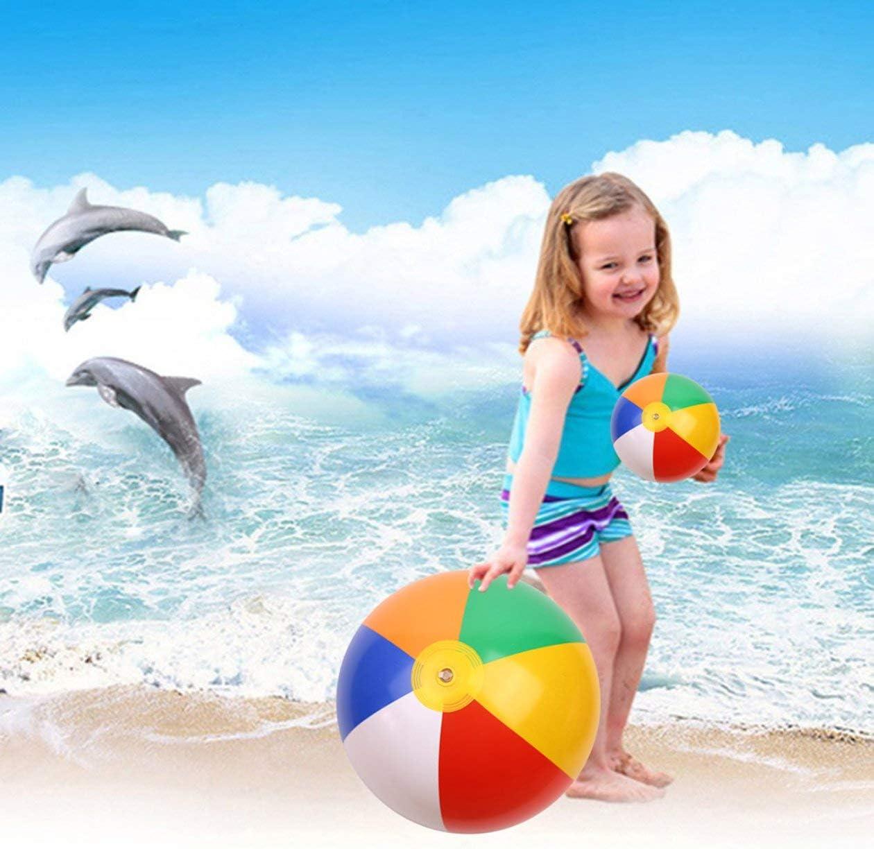 BIYI Inflable Pelota de playa Inflador port/átil Globo de agua Verano al aire libre Playa Nataci/ón Juguete Herramienta de bombeo Accesorios Colorido