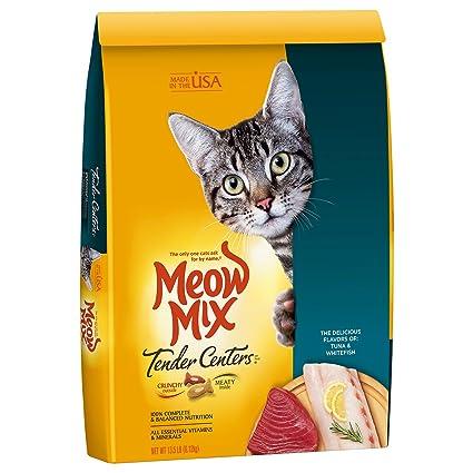 Soft Cat Food >> Amazon Com Meow Mix Tender Centers 13 5 Pound Tuna