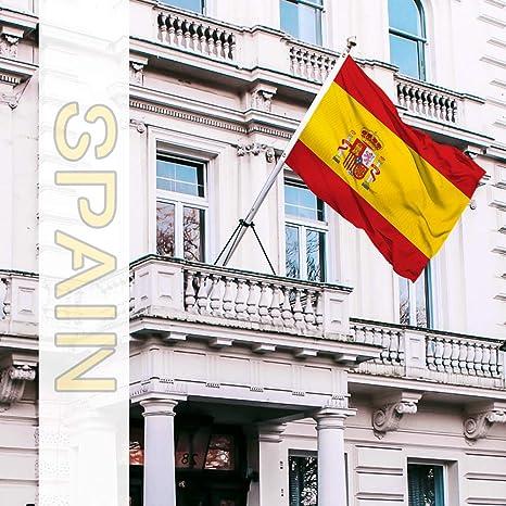 QSUM Banderas 150 x 90 cm (Spain): Amazon.es: Jardín