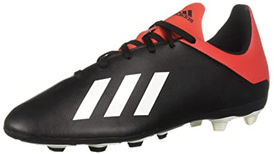 92299e1fb adidas Unisex X 18.4 Firm Ground, Black/Off White/Active red, 2.5