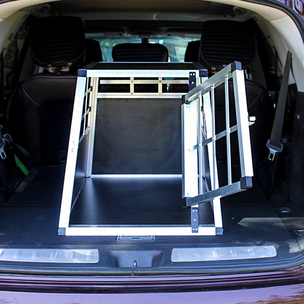 54 x 69 x 50 cm HENGMEI Trasportino per Cane Animali Esterno Gabbia in Alluminio per Viaggio