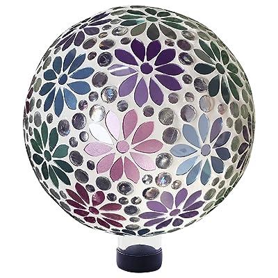 Alpine Corporation HGY426 Alpine Glass Glazing Globe Gazing Balls, Multicolor : Garden & Outdoor