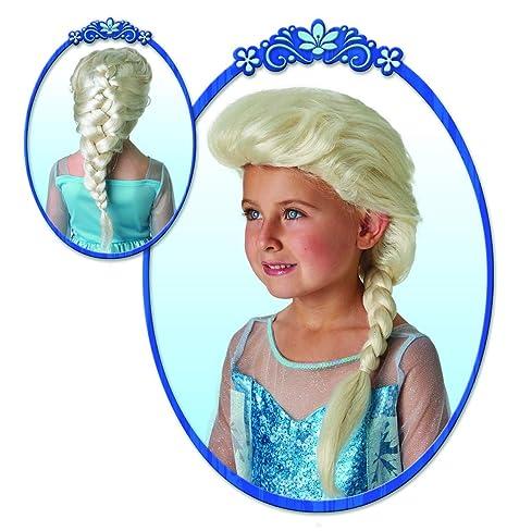 Halloween enia – Accesorios de Disfraz para niñas, Elsa dei Frozen Peluca con Trenza,