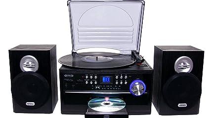 Elegant Jensen All In One Hi Fi Stereo CD Player Turntable U0026 Digital AM
