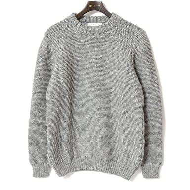 Kerry Woollen Mills Pearl Stitch Crew Neck Sweater KW018-004: Grey
