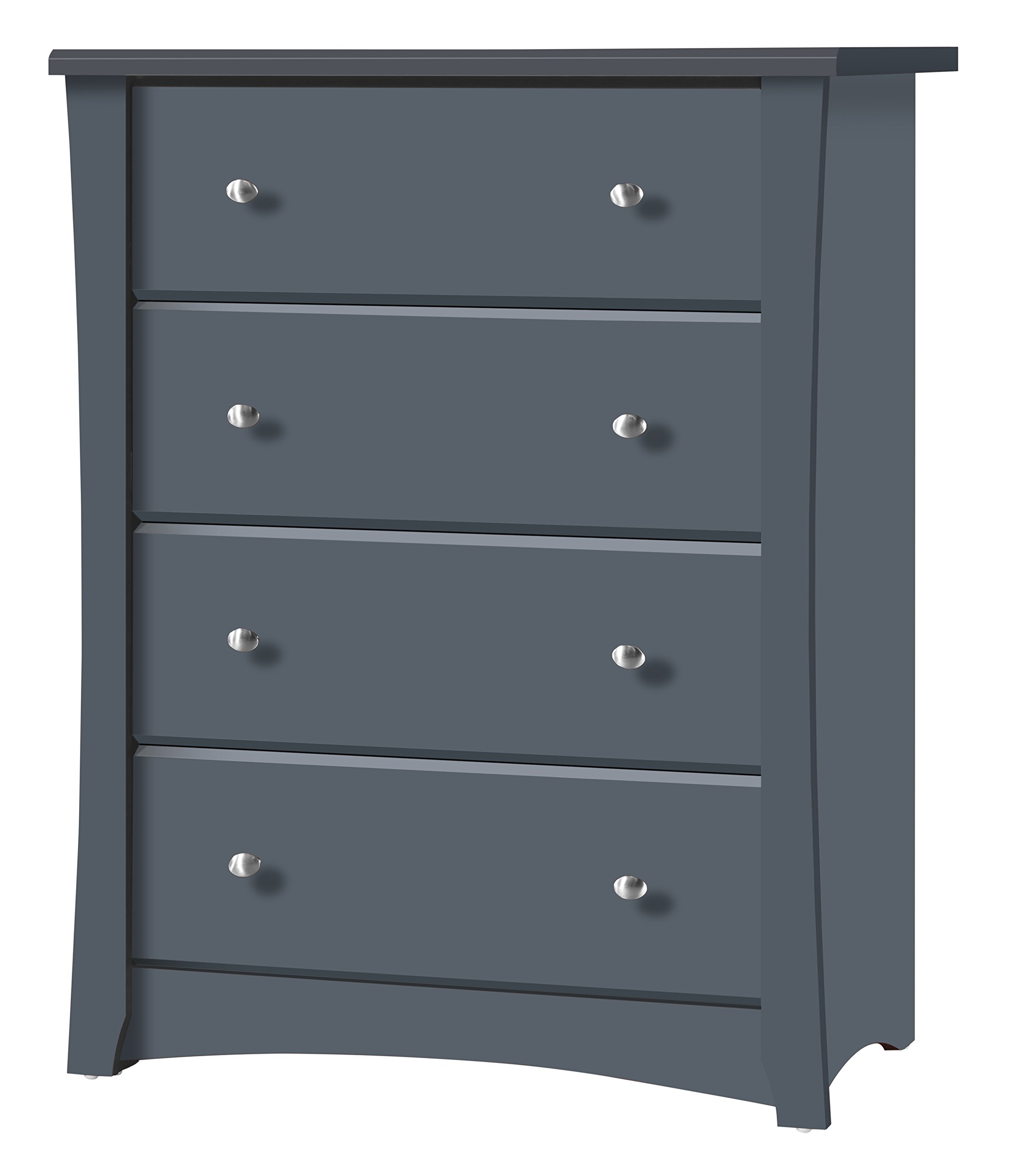 Storkcraft Crescent 4 Drawer Chest, Grey
