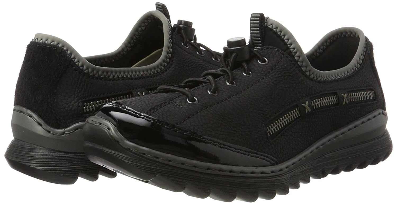 Rieker Damen M6264 M6264 Damen Sneaker Schwarz (Schwarz/Schwarz/Schwarz/Schwarz/Grau) 7d1bf3