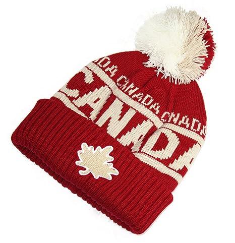 bffe8af2643 Vintage Canada Tuque Warm Winter Hat True North Travel - Maroon  Amazon.ca   Luggage   Bags