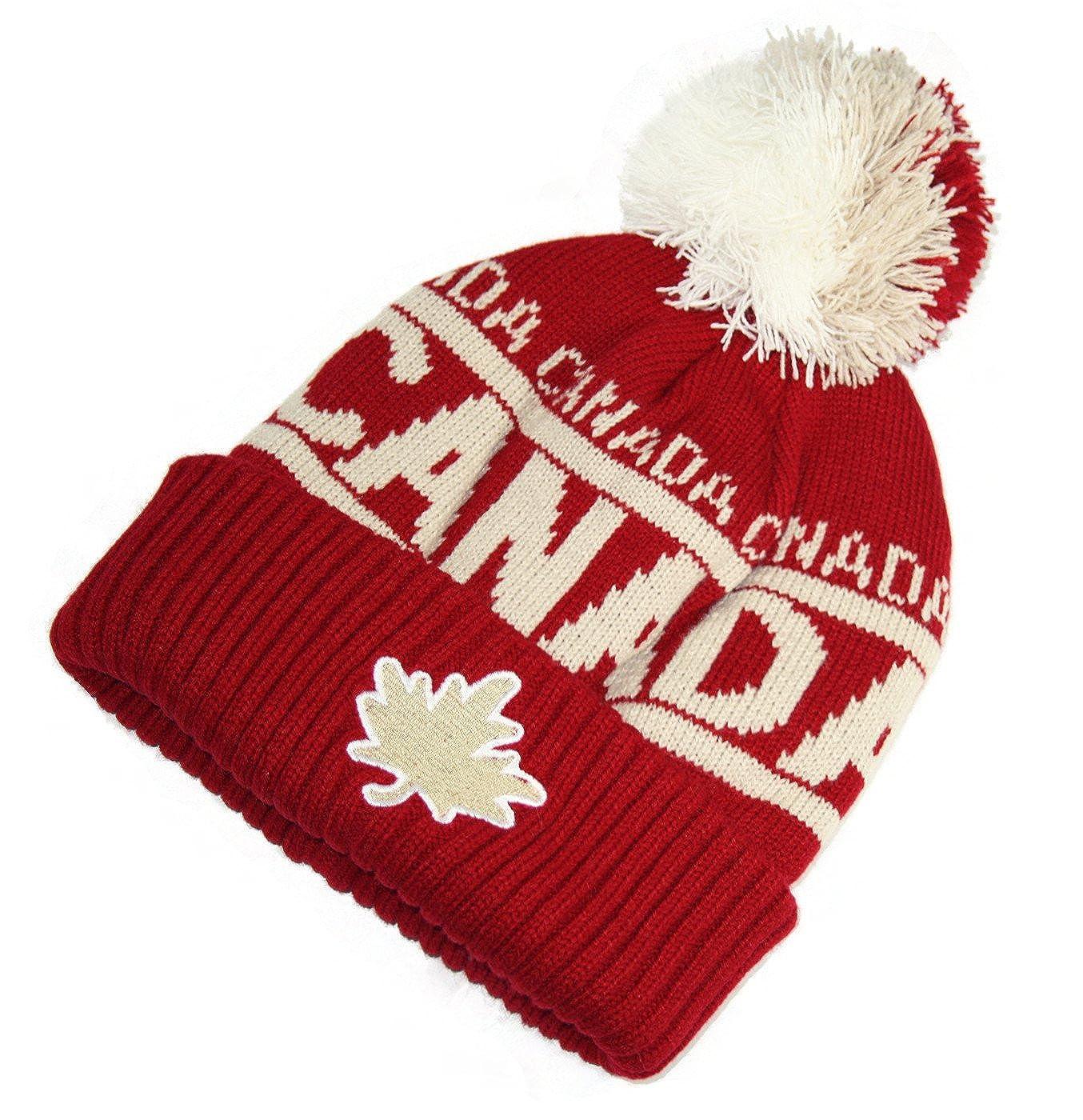 0f1703ff8 Vintage Canada Tuque Warm Winter Hat True North Travel - Maroon at ...