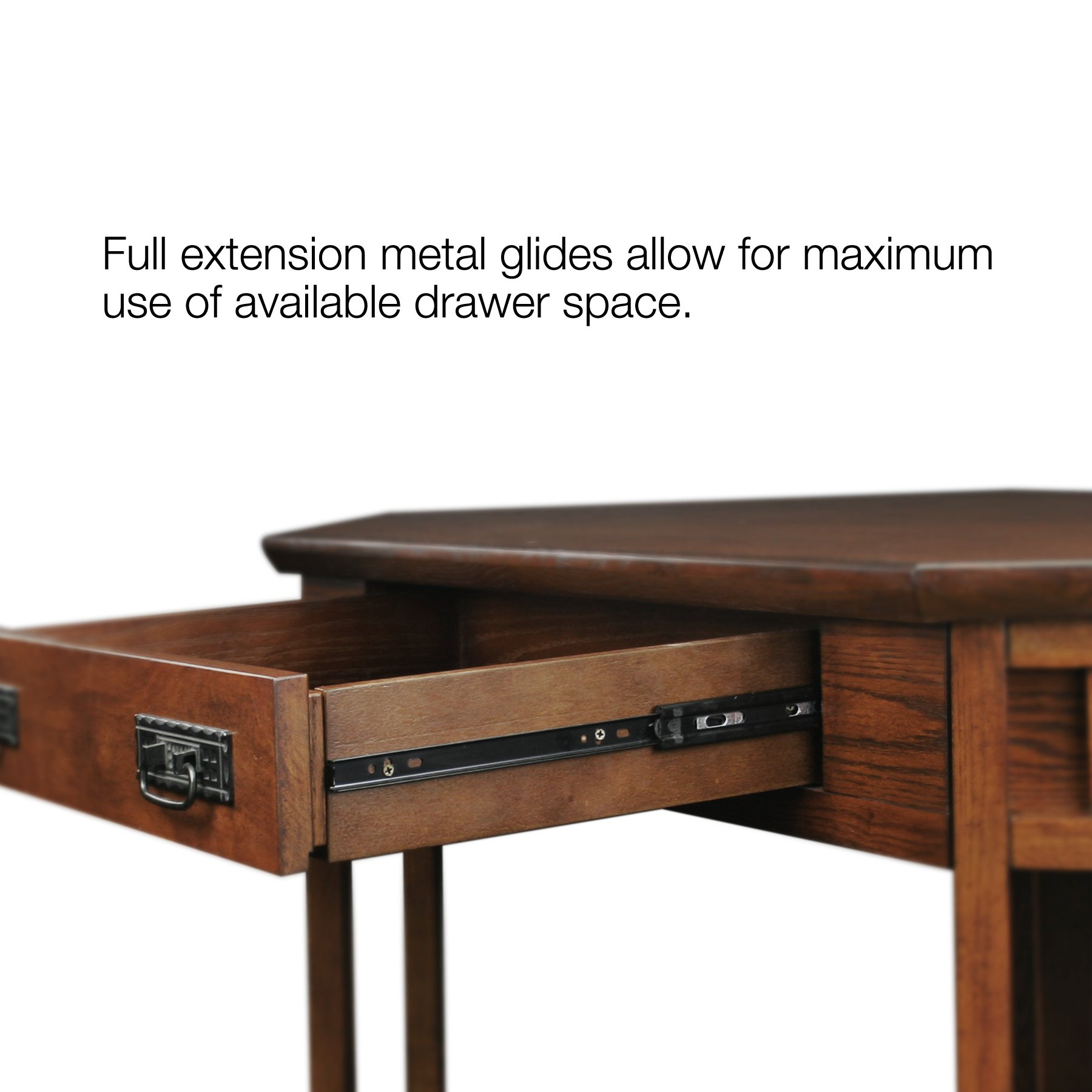 Leick Corner Computer and Writing Desk, Mission Oak Finish by Leick Furniture (Image #4)