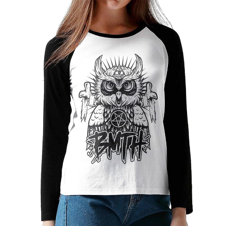 Women Bring Me The Horizon Owl 3/4 Sleeve Raglan T-Shirts Baseball Personalized Tops
