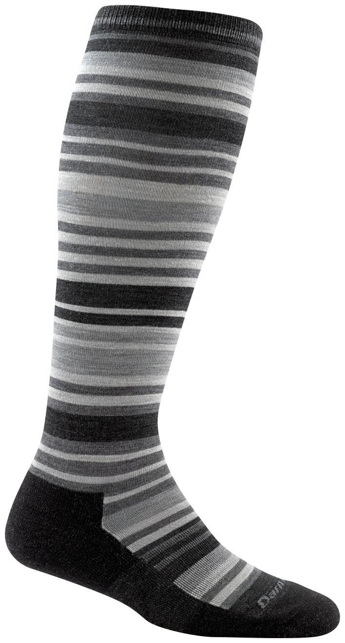 Darn Tough Striped Knee High Light Cushion Socks - Women's Charcoal Large