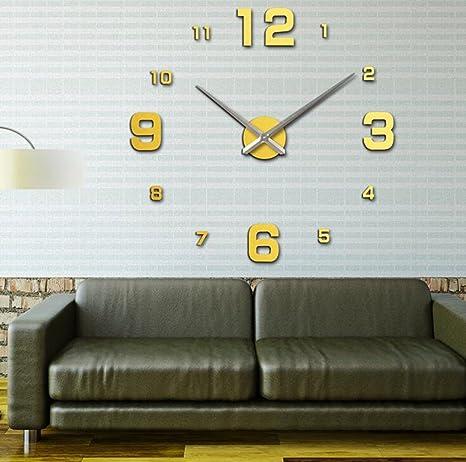 sucastle, acrílico, creativo, para pared, Reloj, esfera ...
