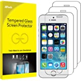 JETech Screen Protector for Apple iPhone SE (2016 Edition), iPhone 5s, iPhone 5c and iPhone 5, Tempered Glass Film, 3-Pack