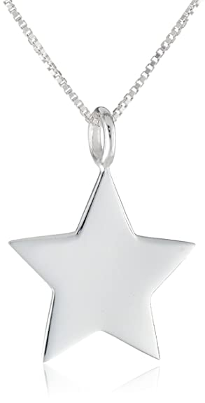 Amazon sterling silver star pendant necklace 18 jewelry sterling silver star pendant necklace 18quot mozeypictures Image collections