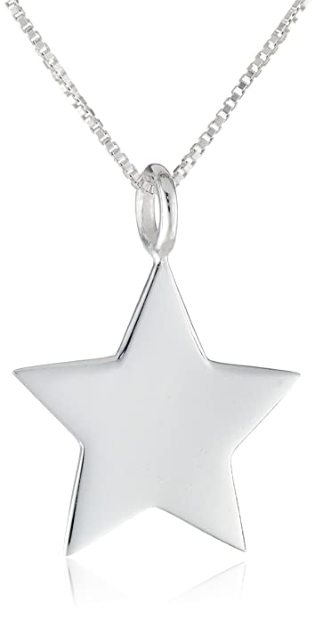 Amazon sterling silver star pendant necklace 18 jewelry sterling silver star pendant necklace 18quot aloadofball Images