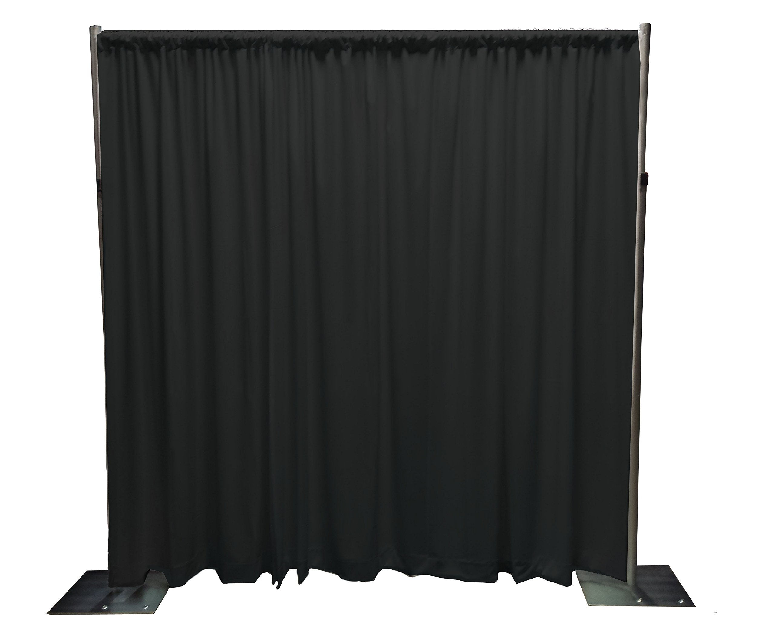 Adjustable Height Backdrop Kit- 7 to 12ft High x 7 to 12ft Wide (Black)