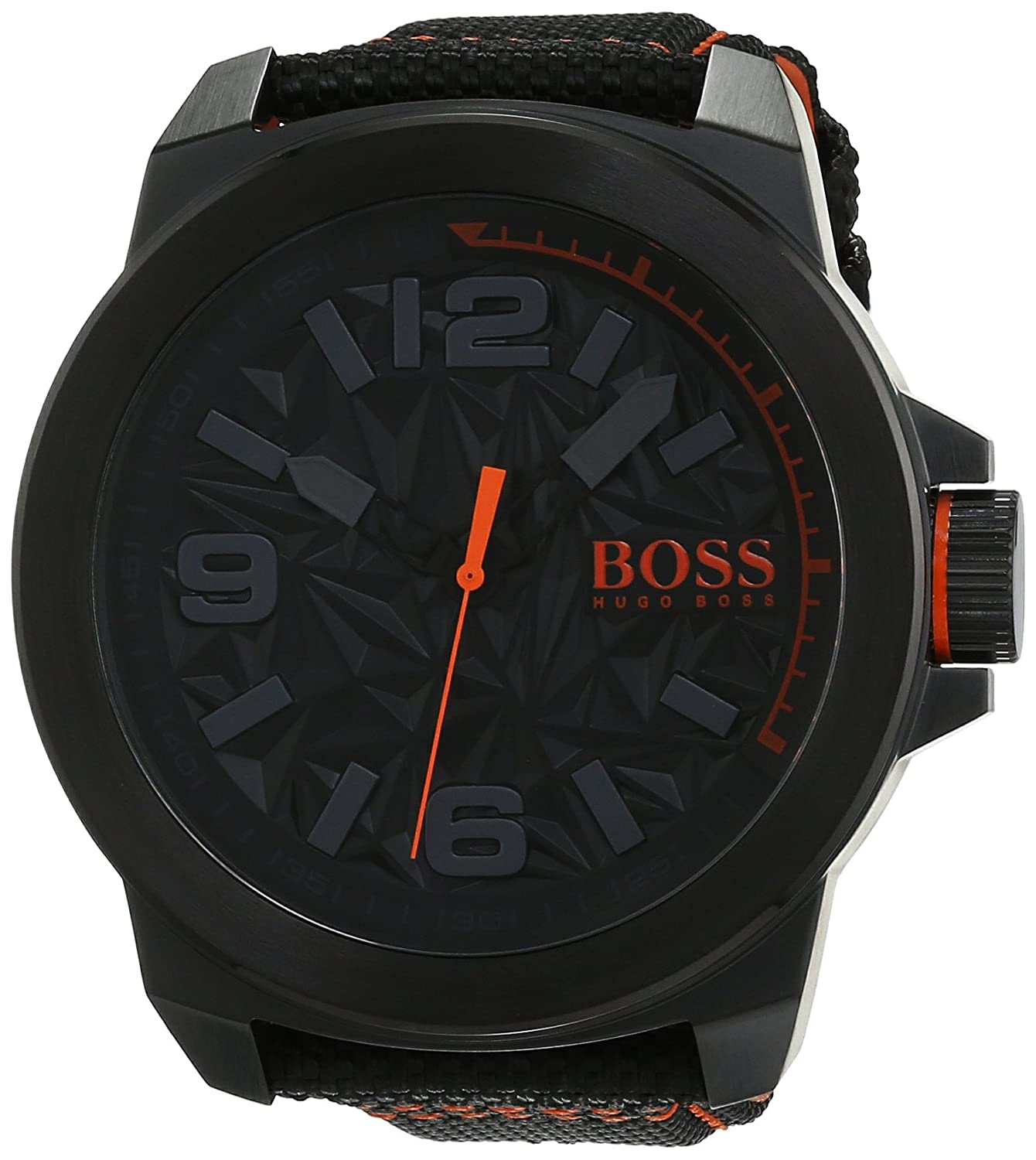BOSS Orange Herren-Armbanduhr NEW YORK Analog Quarz Textil 1513343