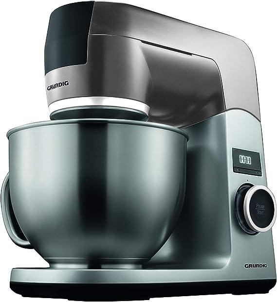Grundig KMP8650S - Robot de cocina, 1000 W, recipiente para mezclar de acero inoxidable, color negro y plateado: Amazon.es: Hogar
