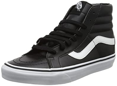 2578db637b6 Vans Unisex Adults' Sk8-Hi Reissue Leather Trainers, Black (Classic Tumble/