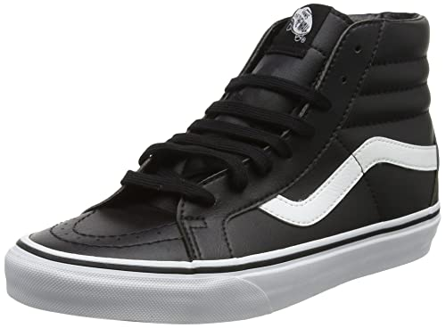 be3e4a07e6 Vans Unisex Adults  Sk8-hi Reissue Leather Trainers  Amazon.co.uk ...