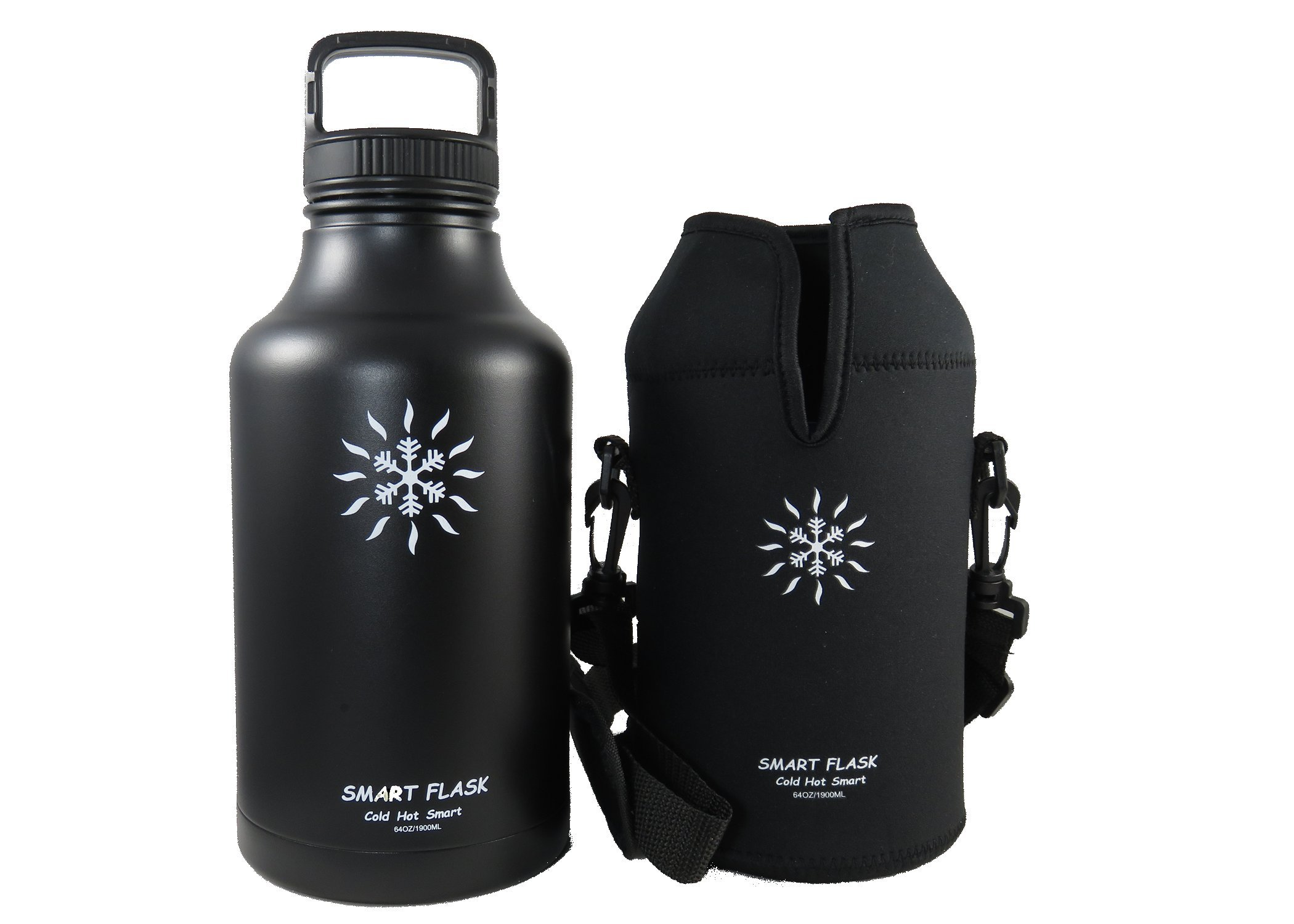 Smart Flask 64oz Beer growler (Midnight Black)