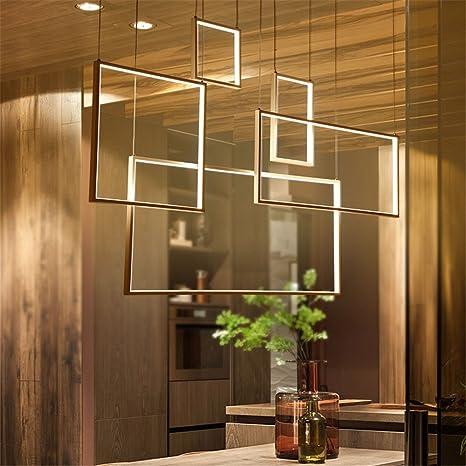 Colgante Para Moderno Mesa Minimalismo Diy Led Lámpara Luces De nwO80PkX