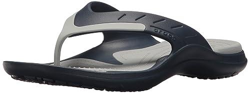 f6b2ea7fc40851 crocs Unisex s Modi Sport Navy Light Grey Flip Flops Thong Sandals-10 UK