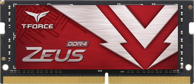 TEAMGROUP T-Force Zeus DDR4 SODIMM 16GB 3200MHz (PC4-25600) 260 Pin CL16 Laptop Memory Module Ram - TTZD416G3200HC16F-S01