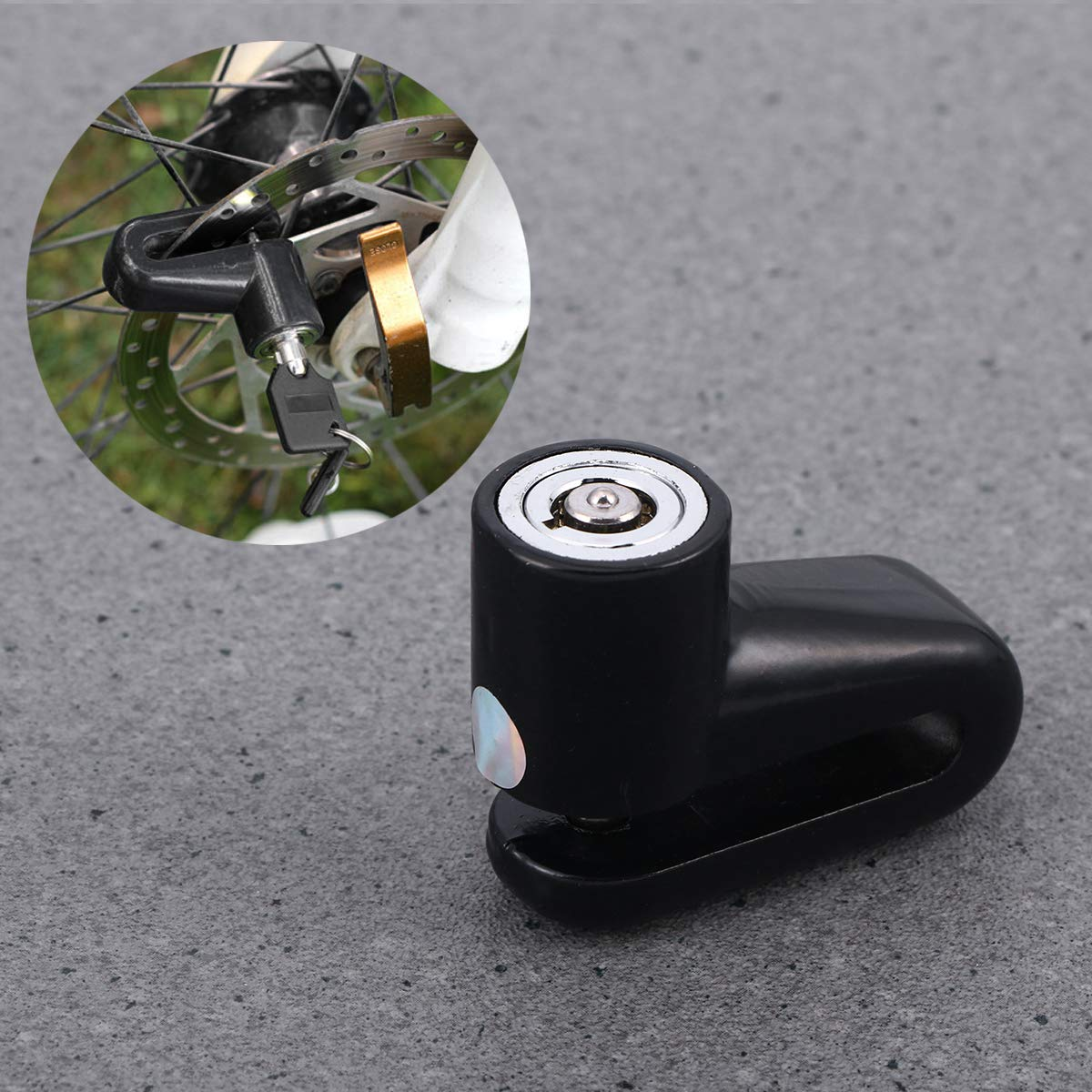 LIOOBO Motorcycle Lock Security Anti Theft Bike Bicycle Motorbike Motorcycle Disc Brake Lock Theft Protection for Scooter Motorbike Black