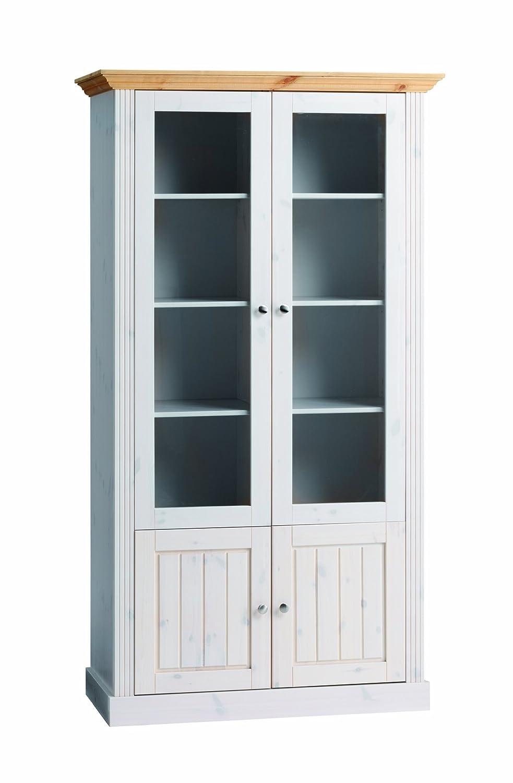 Steens 3171270288001F Monaco Glasvitrine, mit 2 Glastüren und 2 ...
