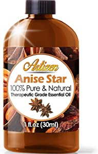 Artizen Anise Star Essential Oil (100% PURE & NATURAL - UNDILUTED) Therapeutic Grade - Huge 1oz Bottle - Perfect for Aromatherapy, Relaxation, Skin Therapy & More!