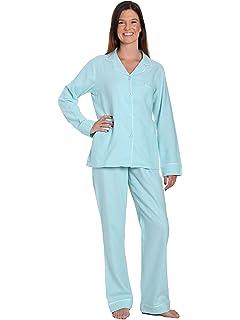 f1723c790d Noble Mount Womens Premium 100% Cotton Yarn Dyed Flannel Pajama Sleepwear  Set