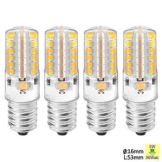 2 opinioni per Sunix 4pcs 5W E14 lampadine LED, 2835 48 SMD LED, 36W alogene lampadine