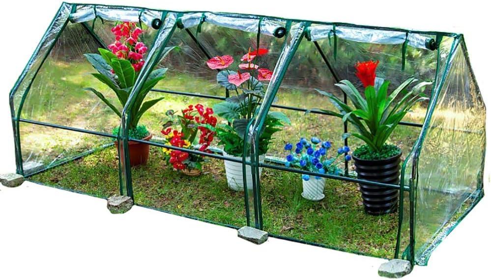 Invernadero Invernadero Portátil, Cobertizo de Planta de Cubierta de PVC a Prueba de Lluvia para El Hogar, para el Balcón de La Sala de Estar al Aire Libre del Jardín, Claro (Size : 3 grids)