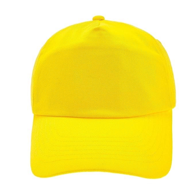 4sold Gorra de béisbol niños y niñas (Amarillo)