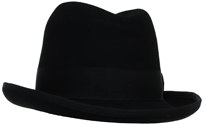 Victorian Men's Hats- Top Hats, Bowler, Gambler Mens Homburg Hat  AT vintagedancer.com